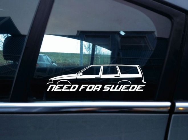 NEED FOR SWEDE sticker - For Volvo V70 1st gen (1996-2000) | T5 | R (no roof rails)
